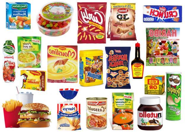00les produits de la grande consommation contenants du glutamate