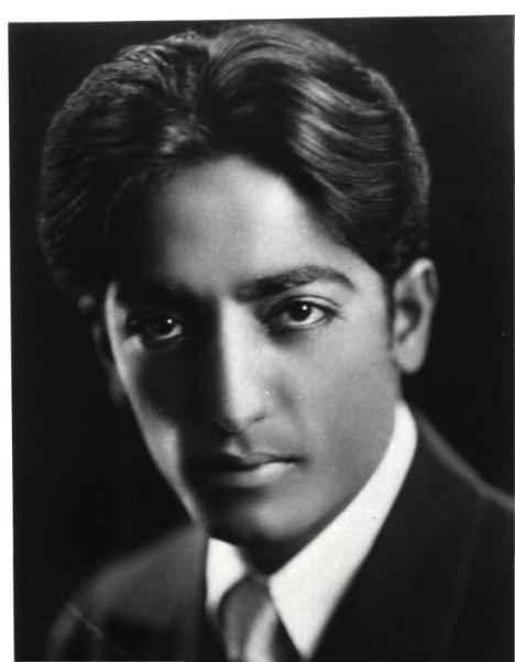 Jiddu krishnamurti young