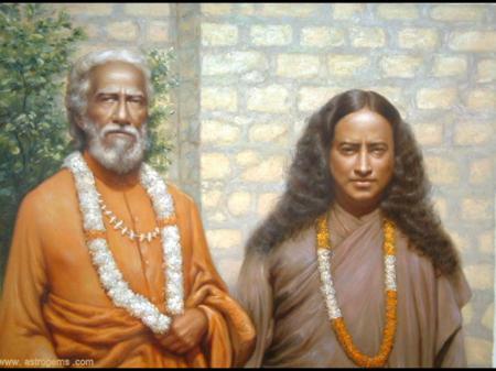Yukteswar with yogananda